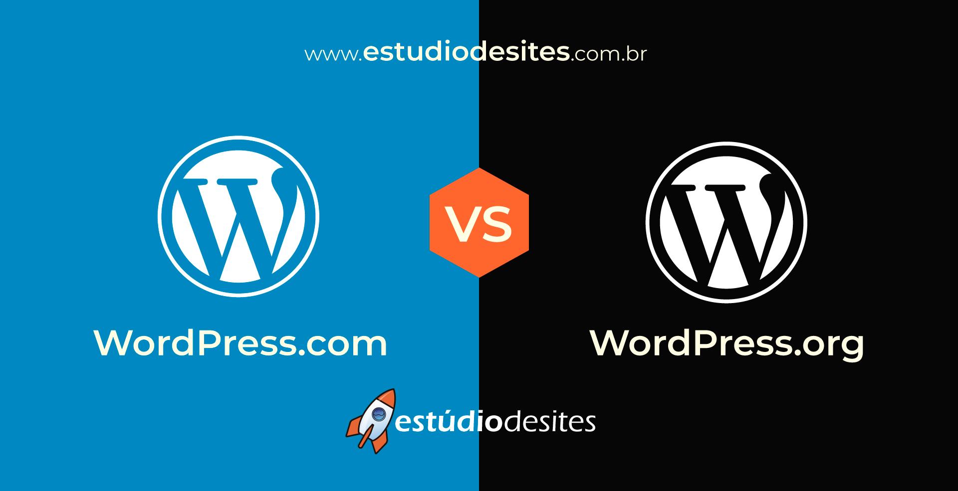 Diferença entre: WordPress.com vs WordPress.org